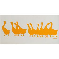 Original Morushka Screen Print of Ducks