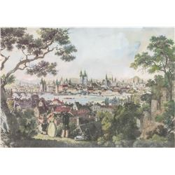 Print on Fabric Landscape Scene of Harbor