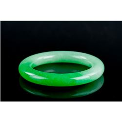 Chinese Green Hardstone Bangle
