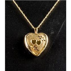 Heart Shaped Sterling Silver Locket Necklace