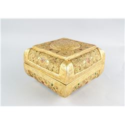 Chinese Tang Style Gold Plated Jewelry Box