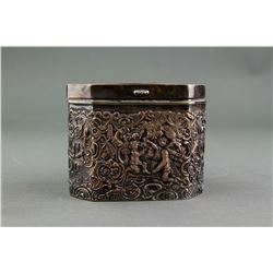 European Copper Tea Box with Engraving Decoration