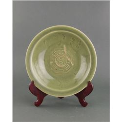 Chinese Green Longquan Porcelain Plate