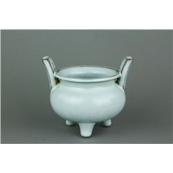 Song/Yuan Type Chinese Guan Porcelain Censer w/ MK
