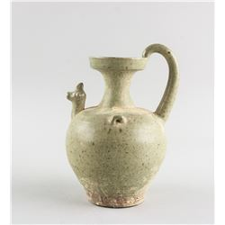 Chinese Jin Style Pottery Rooster Head Pitcher