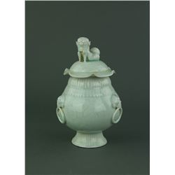 Qingbai Fine Celadon Porcelain Jar with Cover