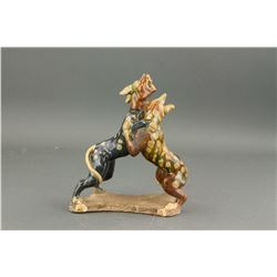 Chinese Tang Pottery Dog Figure