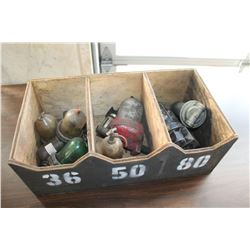 WOOD CRATE OF OIL AND AIR FILTERS