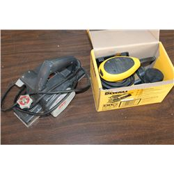 DEWALT PALM SANDER AND SKIL PLANER
