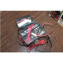 BATTERY CHARGER AND MOTOMASTER ELIMINATOR AND INVERTER