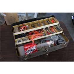 VINTAGE TACKLE BOX WITH CONTENTS