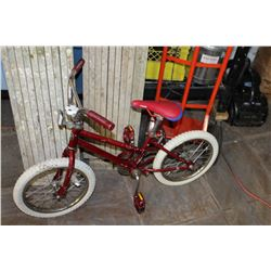 RED SCHWINN KIDS BIKE