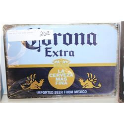NEW 8X12 TIN SIGN CORONA