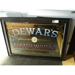 DEWARS SCOTCH WHISKEY MIRRORED ADVERT