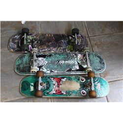 THREE SKATEBOARDS