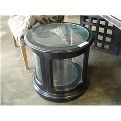 ROUND BLACK DISPLAY ENDTABLE