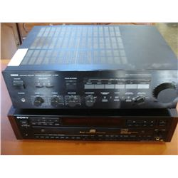 YAMAHA AMP AND SONY CD CHANGER AND SAMSUNG SPEAKERS