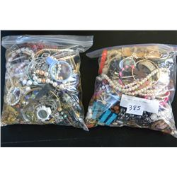 TWO LARGE BAGS OF JEWELLRY