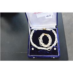 CASED PEARL NECKLACE SET