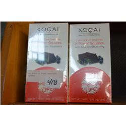 TWO BOXES OF XOCAI CHOCOLATE SQUARES