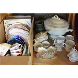 SHELF LOT OF COLLECTOR PLATES AND CHINA ETC
