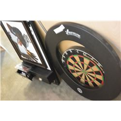 DARTBOARD WITH DARTS SCOREBOARD AND PROTECTOR