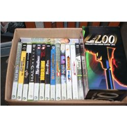 LOT OF XBOX 360 GAMES AND JAMES BAND VHS