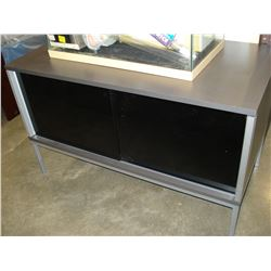 GREY AND GLASS ENTERTAINMENT STAND
