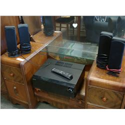 SAMSUNG SURROUND SOUND RECEIVER AND JBL SPEAKERS