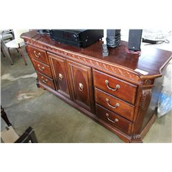 MAHOGANY FINISH 6 DRAWER 2 DOOR SERVER