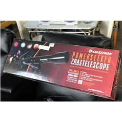 CELESTRON POWER SEEKER 70AZ TELESCOPE IN BOX