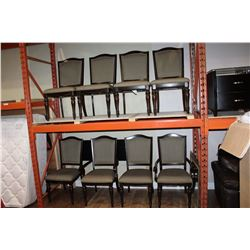 SET OF EIGHT AS NEW HOME ELEGENCE MODERN DINING CHAIRS WITH NAILHEAD DESIGN RETAIL $249 EACH