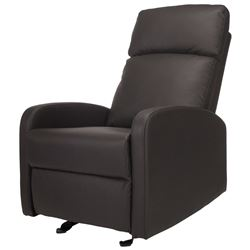 NEW KIDIWAY SANTA MARIA GREY BONDED LEATHER GLIDER CHAIR
