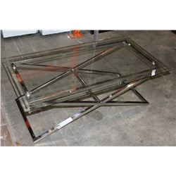 CHROME GLASSTOP COFFEE TABLE