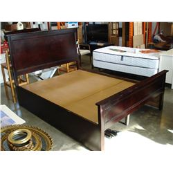 QUEEN SIZE ESPRESO FINISH BEDFRAME