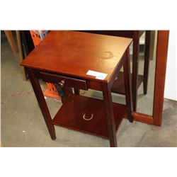 SMALL TWO TIER ONE DRAWER ENDTABLE