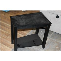 NEW MODERN BLACK 2 TIER ENDTABLE