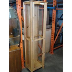 SIX FOOT PINE DISPLAY CASE