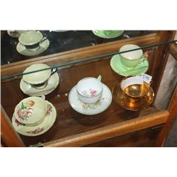 TWO PARAGON AND TWO ROYAL WINTON AND SHELLEY CUPS AND SAUCERS