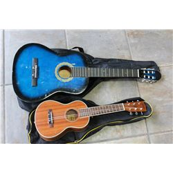 UKELELE AND ACOUSTIC GUITAR
