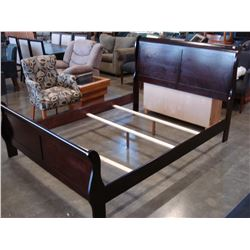 NEW AVENZA CHERRY FINISH QUEENSIZE SLEIGH BED FRAME