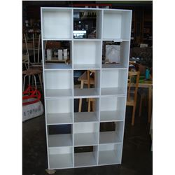 TWO PIECE WHITE CUBE SHELF