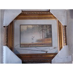NEW GILT FRAMED FLY FISHING PRINT