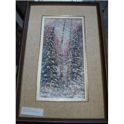 ORIGINAL PAINTING BY OTTO JEGODTKA CALLED WINTER WOODS