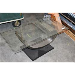 MODERN GREY METAL COFFEE TABLE