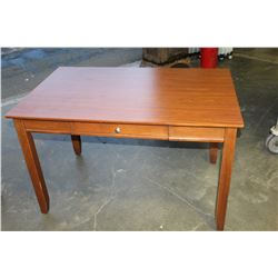 ONE DRAWER MODERN MAPLE DESK
