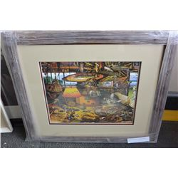 CHARLES WYSOCKI FISHING PRINT NEW