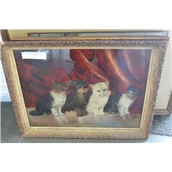 PAINTED CATS ON GLASS
