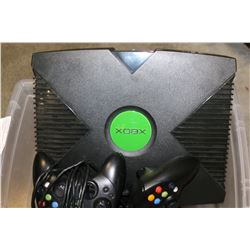 XBOX CONSOLE WITH CONTROLLERS