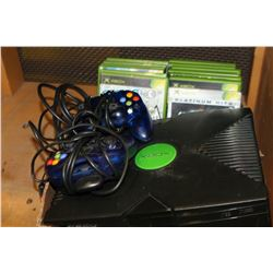 XBOX CONSOLE WITH CONTROLLERS AND GAMES